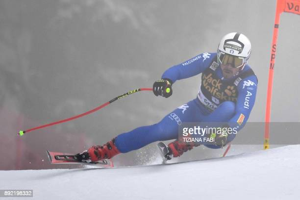 Peter Fill of Italy competes during a training for the FIS Alpine World Cup Men Downhill on December 14 2017 in Val Gardena Italian Alps / AFP PHOTO...