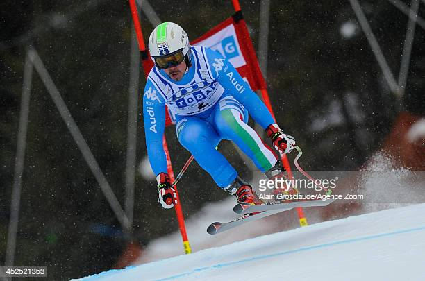 Peter Fill of Italy competes during the Audi FIS Alpine Ski World Cup Men's Downhill Training on November 29 2013 in Lake Louise Canada