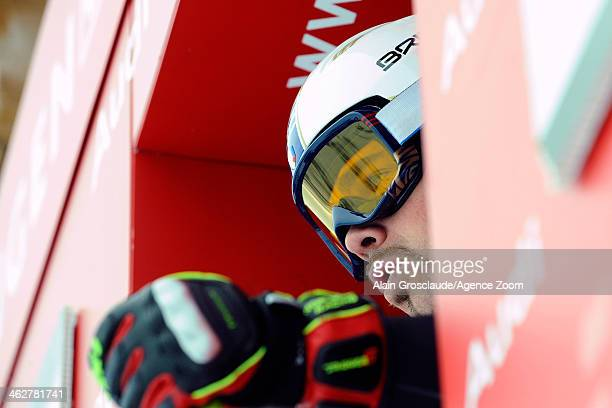 Peter Fill of Italy competes during the Audi FIS Alpine Ski World Cup Men's Downhill Training on January 15 2014 in Wengen Switzerland
