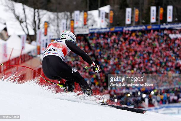 Peter Fill of Italy competes during the Audi FIS Alpine Ski World Cup Men's Downhill on January 18 2014 in Wengen Switzerland