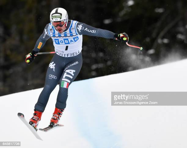 Peter Fill of Italy competes during the Audi FIS Alpine Ski World Cup Men's Downhill on February 25, 2017 in Kvitfjell, Norway