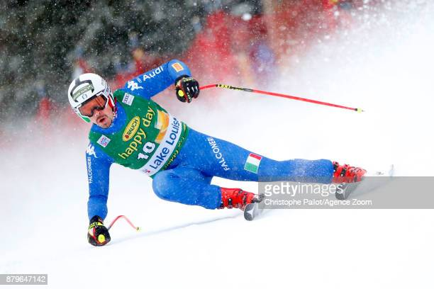 Peter Fill of Italy competes during the Audi FIS Alpine Ski World Cup Men's Super G on November 26 2017 in Lake Louise Canada