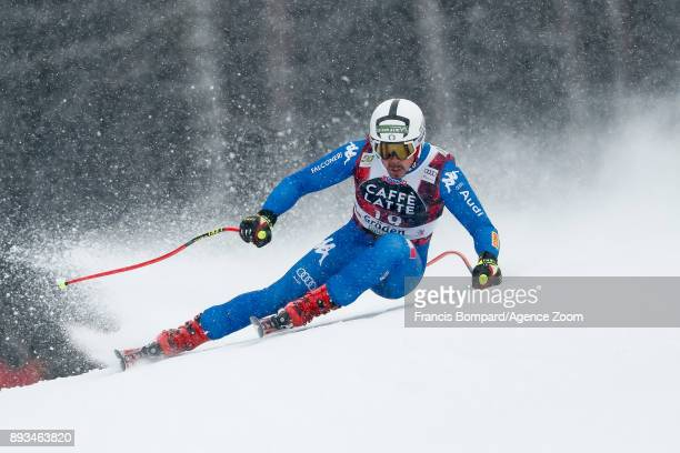 Peter Fill of Italy competes during the Audi FIS Alpine Ski World Cup Men's Super G on December 15 2017 in Val Gardena Italy