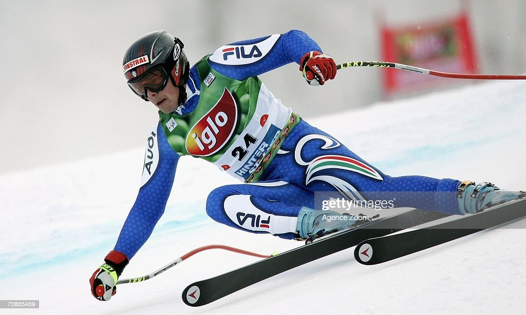 Peter Fill of Italy competes on his way to taking 2nd place during the FIS Skiing World Cup Men's Super-G on December 20, 2006 in Hinterstoder, Austria.