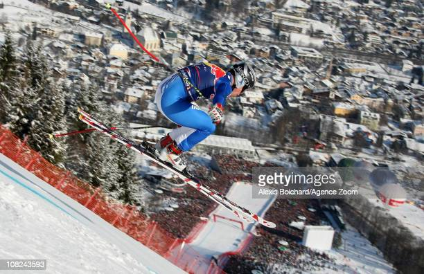 Peter Fill of Italy during the Audi FIS Alpine Ski World Cup Men's Downhill on January 22 2011 in Kitzbuehel Austria