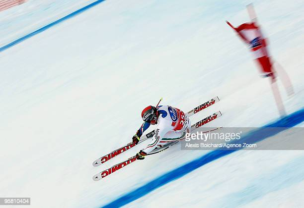 Peter Fill of Italy during the Audi FIS Alpine Ski World Cup Men's Downhill on January 16 2010 in Wengen Switzerland