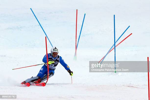 Peter Fill of Italy in action during the Audi FIS Alpine Ski World Cup Men's Combined on December 29, 2017 in Bormio, Italy.