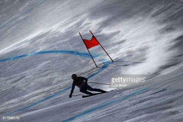Peter Fill of Italy makes a run during the Men's Alpine Combined Downhill on day four of the PyeongChang 2018 Winter Olympic Games at Jeongseon...