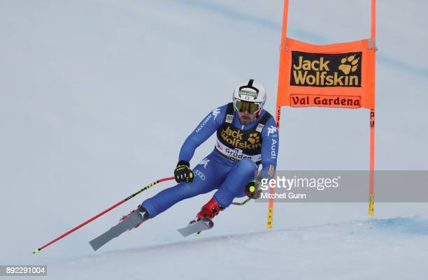 Peter Fill of Italy races down the Saslong course during the Audi FIS Alpine Ski World Cup Men's Downhill training on December 14 2017 at Val Gardena...