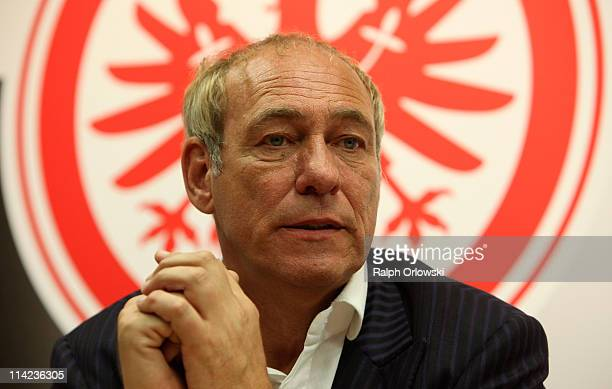 Peter Fischer President of Eintracht Frankfurt attends a news conference at the headquarters on May 16 2011 in Frankfurt am Main Germany