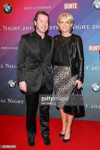 Peter Fissenewert and Ulla Kock am Brink attend the Bunte BMW Festival Night 2015 on February 06 2015 in Berlin Germany