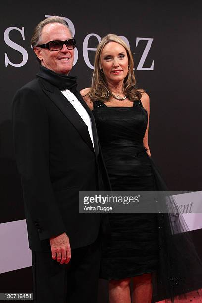 Peter Fonda and his wife Portia Rebecca Crockett attend the GQ Man Of The Year Award 2011 at the Konzerthaus Berlin on October 28 2011 in Berlin...