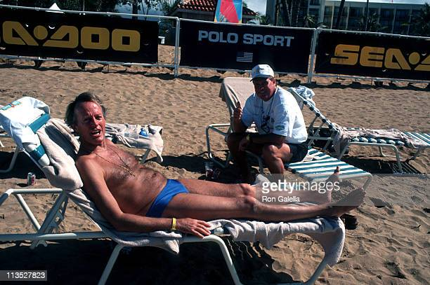 Peter Fonda and Lee Majors during Celebrity Sports Invitational SeaDoo Practice May 23 1997 at Westin Rio Mar Beach Resort in Rio Grande Puerto Rico
