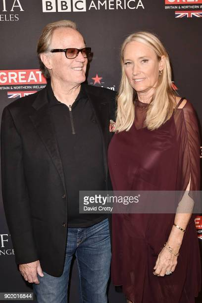 Peter Fonda and Portia Rebecca Crockett attend The BAFTA Los Angeles Tea Party Arrivals at Four Seasons Hotel Los Angeles at Beverly Hills on January...