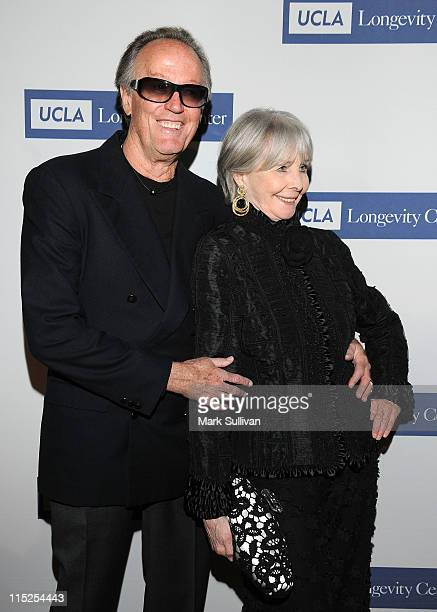 Peter Fonda and Shirlee Fonda attend The UCLA Longevity Center's 20th Anniversary ICON Awards Gala at The Beverly Hilton hotel on June 4 2011 in...