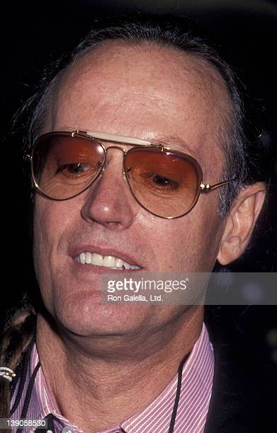 Peter Fonda attends the grand opening of the HarleyDavidson Cafe on October 19 1993 in New York City