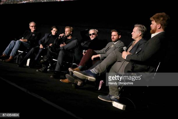 Peter Fonda Diego Josef Joe Anderson Tommy Flanagan Jared Moshe Bill Pullman and Lane Kneedler speak on stage during AFI Fest's Los Angeles premiere...