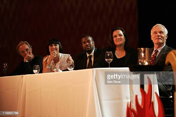 Peter Fonda Eve Ensler Chris Tucker Rosie O'Donnell and Ted Turner