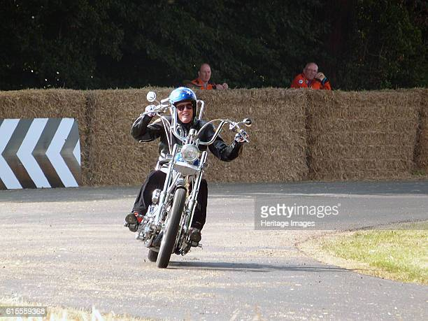 Peter Fonda on Captain America Chopper Goodwood Festival of Speed 2013 Artist Unknown