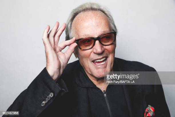 Peter Fonda poses for a portrait at the BAFTA Los Angeles Tea Party on January 6 2018 in Beverly Hills California