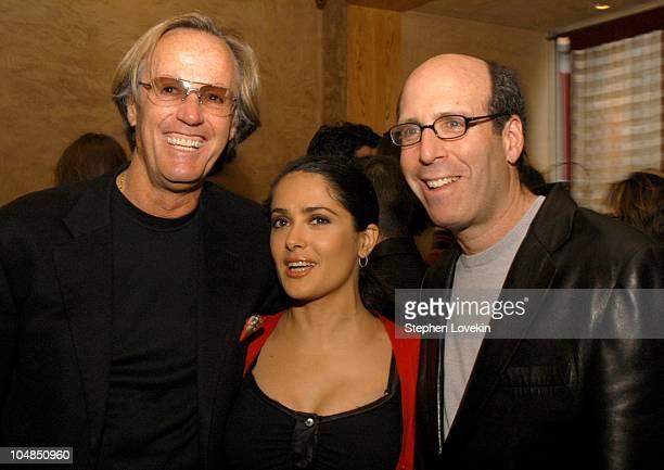 Peter Fonda Salma Hayek and Matt Blank President and CEO of Showtime