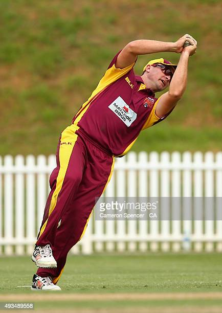 Peter Forrest of Queensland catches out Adam Voges of Western Australia off the delivery of Billy Stanlake during the Matador BBQs One Day Cup match...