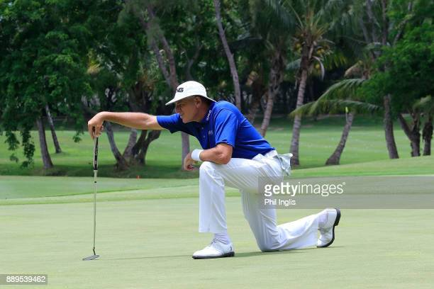 Peter Fowler of Australia in action during the final round of the MCB Tour Championship played over the Legend Course at Constance Belle Mare Plage...