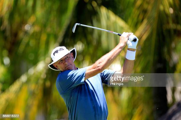 Peter Fowler of Australia in action during the second round of the MCB Tour Championship played over the Legends Course at Constance Belle Mare Plage...