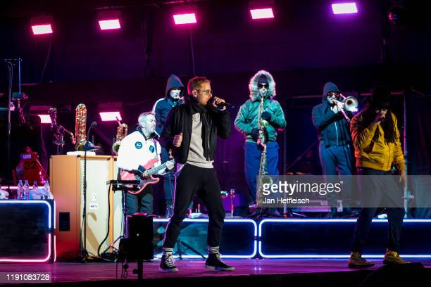 """Peter Fox and Frank A. Delle of the german band Seed perform live on stage during the """"Top Of The Mountain"""" concert on November 30, 2019 in Ischgl,..."""