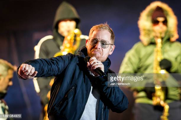 """Peter Fox of the german band Seed performs live on stage during the """"Top Of The Mountain"""" concert on November 30, 2019 in Ischgl, Austria."""