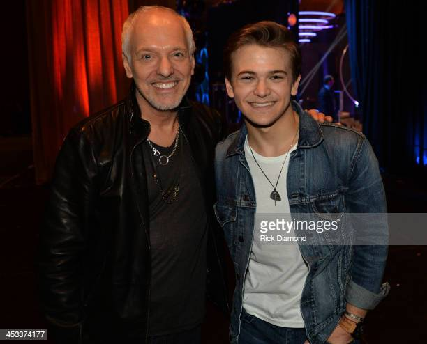 Peter Frampton and Hunter Hayes attend CMT Artists Of The Year 2013 at Music City Center on December 3 2013 in Nashville Tennessee