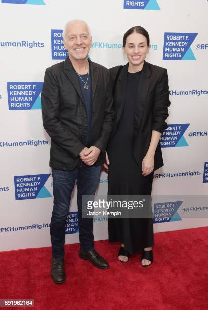 Peter Frampton and Jade Frampton attend Robert F Kennedy Human Rights Hosts Annual Ripple Of Hope Awards Dinner on December 13 2017 in New York City