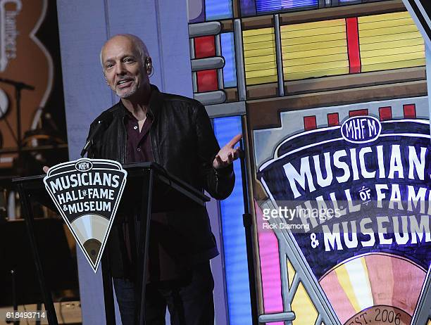 Peter Frampton attends the Musicians Hall Of Fame 2016 Induction Ceremony show at Nashville Municipal Auditorium on October 26 2016 in Nashville...