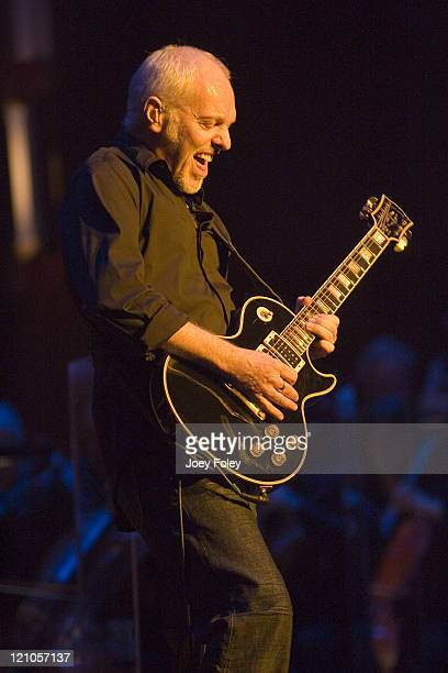 Peter Frampton during Peter Frampton Performs with the Indianapolis Symphony Orchestra – April 14 2007 at Hilbert Circle Theatre in Indianapolis...
