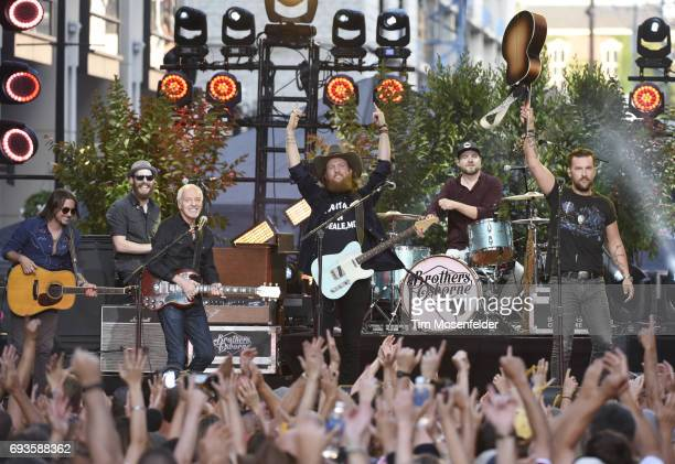 Peter Frampton John Osborne and TJ Osborne of Brothers Osborne perform during the 2017 CMT Music Awards at the Music City Center on June 7 2017 in...