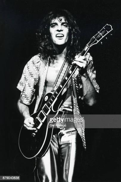 Peter Frampton performing on stage Vorst Nationaal Brussels Belgium 6th November 1976