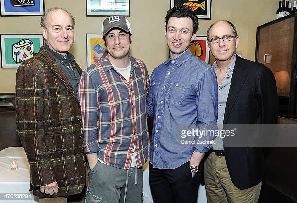 Peter Friedman Jason Biggs Bryce Pinkham and James Lapine attend The Heidi Chronicles Special Reception Performance at West Bank Cafe on April 18...