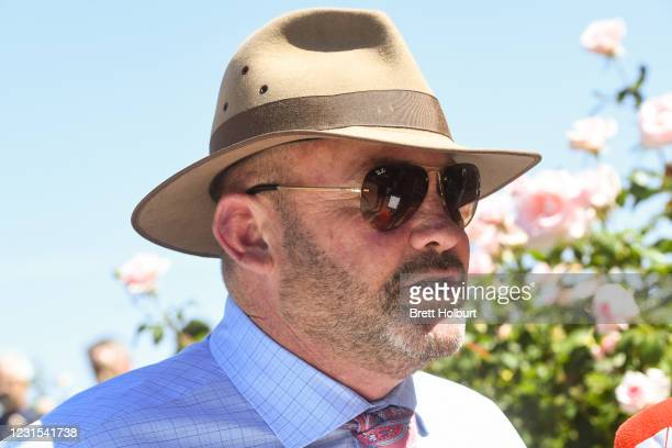 Peter G Moody after Lightsaber won the MSS Security Sires' Produce Stakes at Flemington Racecourse on March 06, 2021 in Flemington, Australia.