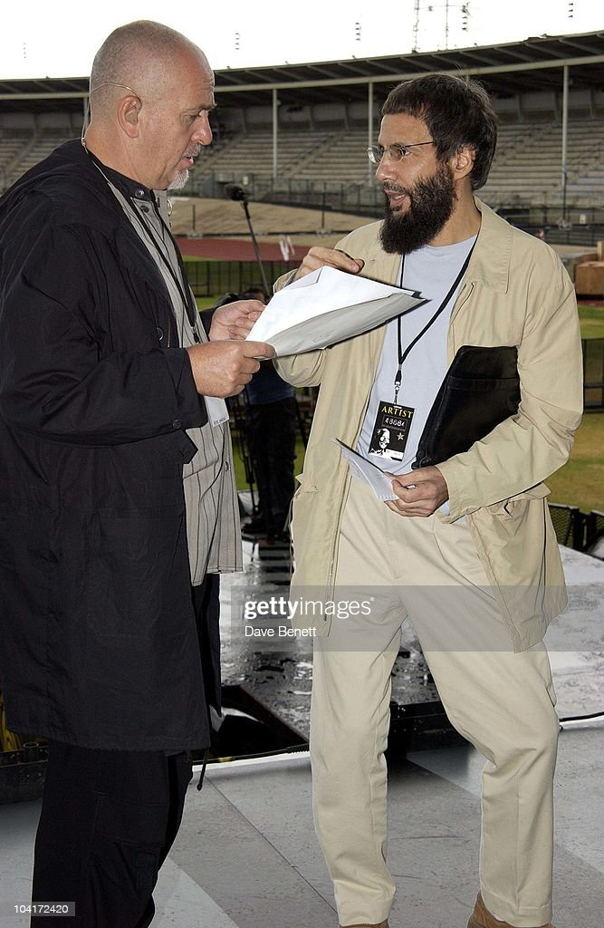 Peter Gabrie And Yusuf Islam, The Stars Of Rock And Roll Join Forces For Nelson Mandela's 46664 Concert In Cape Town, South Africa. In The Pre, Concert Build Up, This Morning Peter Gabriel, Met Yusuf Islam During Rehursals At The Green Point Stadium Cape Town, South Africa Gears Up For Aids Awareness Mandela Concert 46664. The Concert Is In Association With Mtv's Staying Alive & Www.46664.com Powered By Tiscali.
