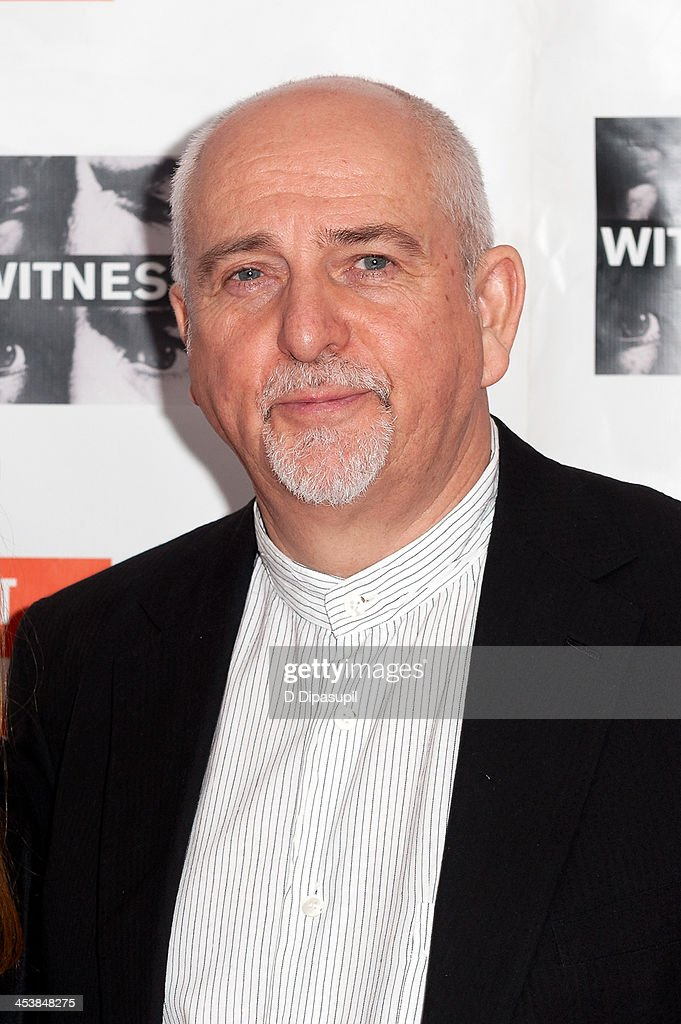 Peter Gabriel attends the 2013 Focus For Change gala benefiting WITNESS at Roseland Ballroom on December 5, 2013 in New York City.