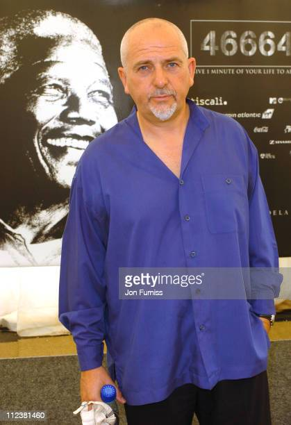 Peter Gabriel during 46664 Give 1 Minute Of Your Life To AIDS Concert Press Room at Greenpoint Stadium in Cape Town Western Cape South Africa