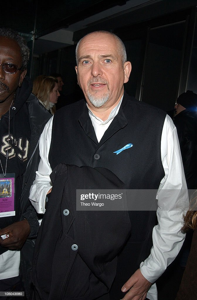 Peter Gabriel during The 45th Annual GRAMMY Awards - EMI After-Party Celebrates Norah Jones Sweep at Blue Fin and Whiskey in New York City, New York, United States.