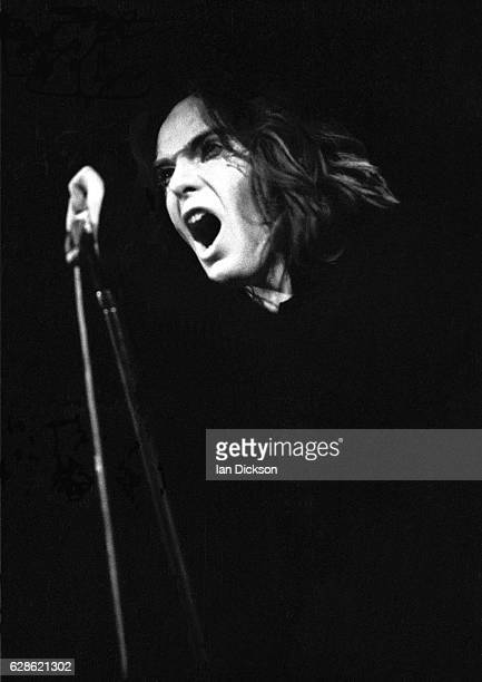 Peter Gabriel of Genesis performing on stage at City Hall Newcastle upon Tyne 22 February 1973