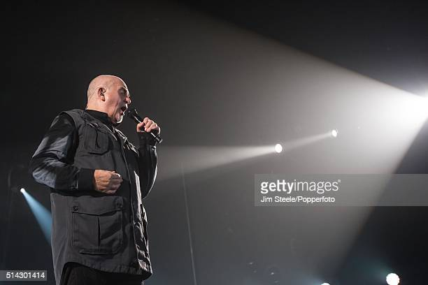 Peter Gabriel performing live on stage at Wembley Arena during his Back to Front tour on December 3rd 2014 in London United Kingdom