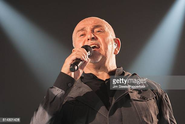 Peter Gabriel performing live on stage at Wembley Arena during his Back to Front tour on December 3rd 2014 in London, United Kingdom