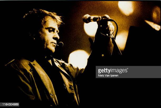 Peter Gabriel, performing on stage, Glastonbury Festival, United Kingdom, 26th June 1994.