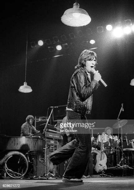 Peter Gabriel performing on stage London 1977