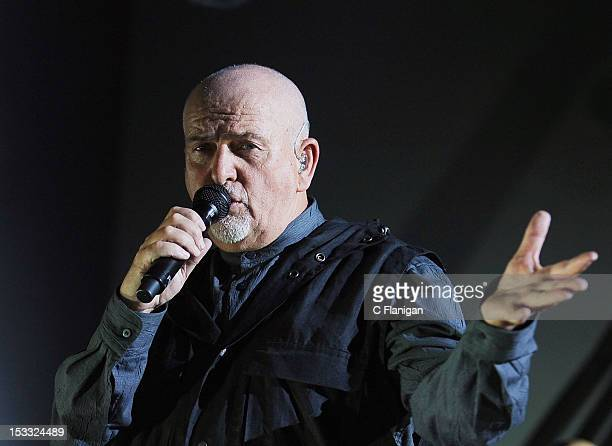 Peter Gabriel performs during the his 2012 Back to Front tour at HP Pavilion on October 2 2012 in San Jose California