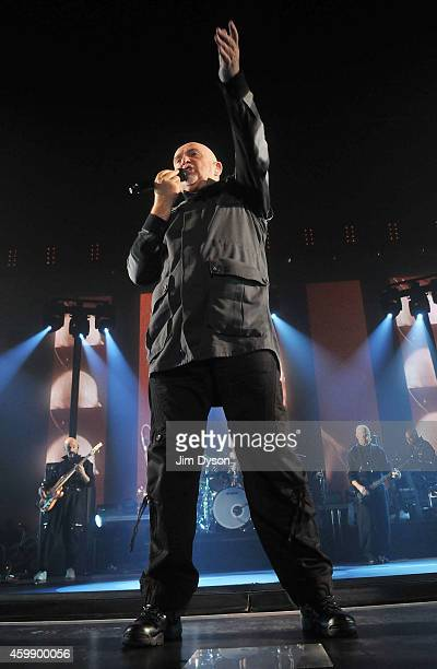 Peter Gabriel performs live on stage at Wembley Arena during his Back to Front tour on December 3 2014 in London United Kingdom
