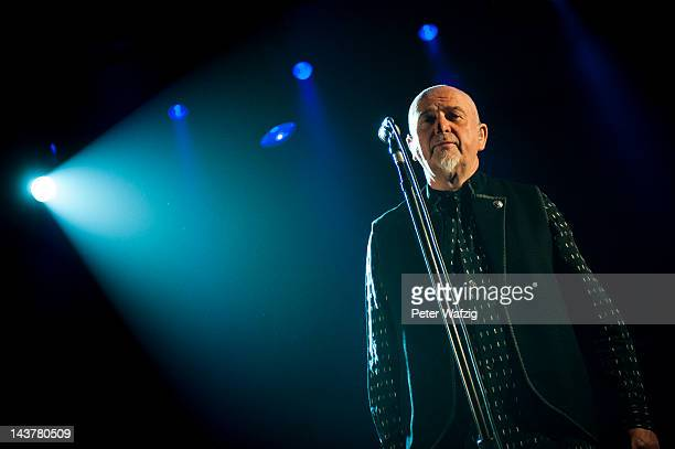 Peter Gabriel performs on stage at the KoenigPilsenerArena on May 03 2012 in Oberhausen Germany